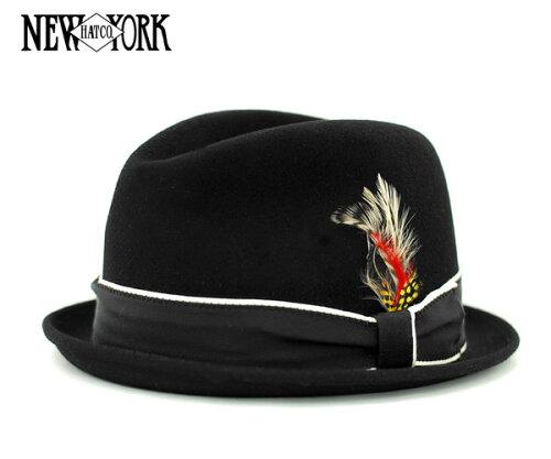 [SOLD OUT]ニューヨークハット(NEW YORK HAT)ルイ ブラック LOUIE BLACK [帽子 フェルト 中折れ ...