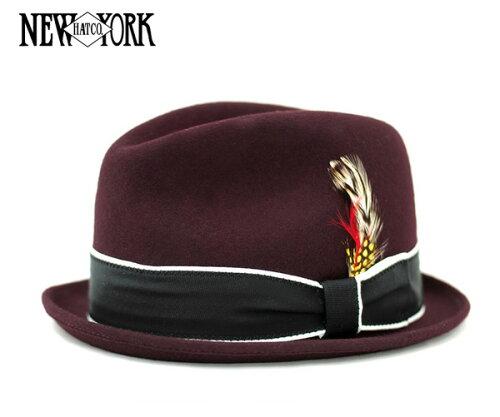 [SOLD OUT]ニューヨークハット(NEW YORK HAT)ルイ バーガンディ LOUIE BURGUNDY [帽子 フェルト ...