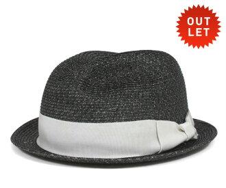 卡瓦列羅 Fedora 帽子阿爾巴塞特葉片稻草秸稈混合黑色帽子 CABALLERO FEDORA 帽子阿爾巴塞特編織稻草混合黑色 [大小男裝大草帽稻草秸稈帽子草帽草帽草編帽子],[BK] #HA: S