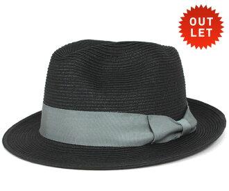 卡瓦列羅色的氊帽帽子阿爾馬格羅葉片稻草秸稈黑帽子 CABALLERO 色的氊帽帽子阿爾馬格羅編織稻草黑 [大小男裝大草帽稻草秸稈帽子草帽草帽草編帽子]、 [BK] #HA: S
