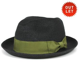 卡瓦列羅 Fedora 帽子伊維薩島葉片秸稈黑色帽子 CABALLERO FEDORA 頂草帽在伊維薩島編織稻草黑 [大小男裝大草帽稻草秸稈帽子草帽草帽草編帽子]、 [BK] #HA: S
