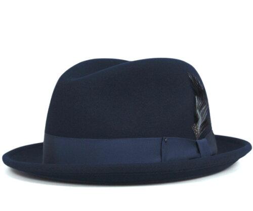 ベイリー(Bailey Hats)ハット ネイビー HAT TINO NAVY [帽子 フェルトハット 中折れハット フェ...