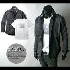 【紳士メンズ】【アンサンブル】【SASSON】グラフィックTシャツ付きドット柄シャツアンサンブル