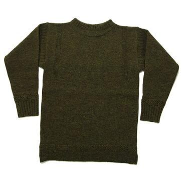 ティージー カットソー バスク シャツ Tieasy Authentic オーセンティック ×ISLAND KNIT WORKS Fisherman's Sweater OD フィッシャーマンズセーター