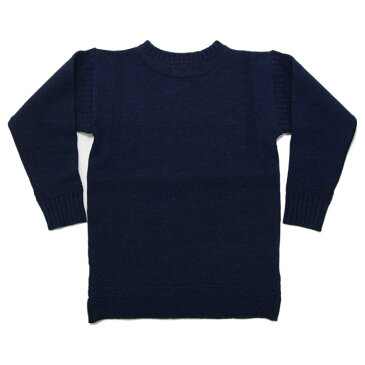ティージー カットソー バスク シャツ Tieasy Authentic オーセンティック ×ISLAND KNIT WORKS Fisherman's Sweater A.F.Blue フィッシャーマンズセーター