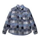 KATO'(カトー)BasicPatchworkShirtベーシックパッチワークシャツ