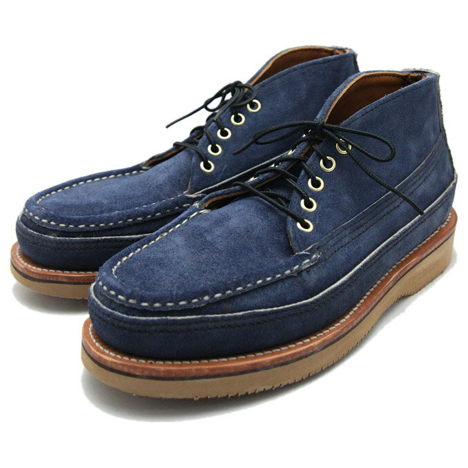 Russell Moccasin(ラッセルモカシン)SP.5EYELET SP.CLAYS CHUKKA FLESHY Blueberry 別注5アイレットスポーティングクレイチャッカ:OntheEarth Store