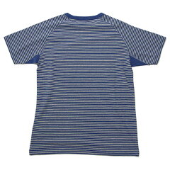 Nigel Cabourn Basic T-Shirt Stripe 80360021006: Blue