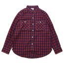 BONCOURA(ボンクラ)ネルワークシャツインディゴ×赤チェック