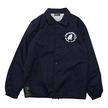 ジョニーバード デイリーウェア Johnny Bird Daily Wear LOGO COACH JACKET Navy ロゴコーチジャケット ジャケット