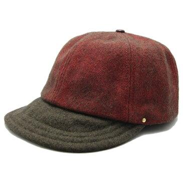 DECHO(デコー)×SUNSET CRAFTMAN BALL CAP OLIVE/RED サンセットクラフトマン ボールキャップ CAP キャップ 帽子