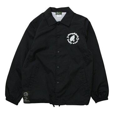 ジョニーバード デイリーウェア Johnny Bird Daily Wear LOGO COACH JACKET Black ロゴコーチジャケット ジャケット