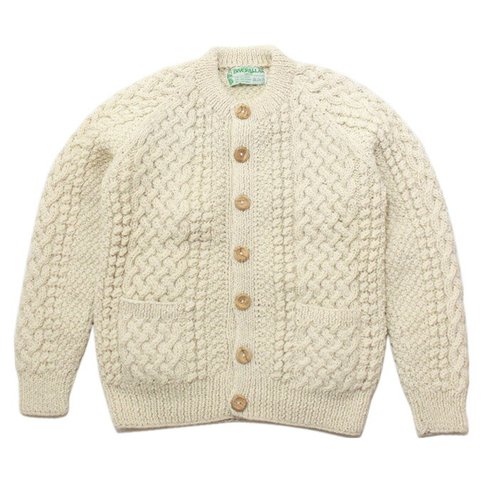 INVERALLAN(インバーアラン)4A Golfer Cardigan Natural:OntheEarth Store