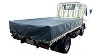 トラックシート2tトラック2.3×3.5厚手グレー荷台カバーエステル帆布