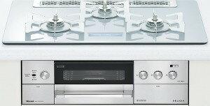 リンナイ|ビルトインコンロ|デリシアシリーズ|セランガラストップ|無水両面焼グリル|AC100V電源|トップカラー:クリアホワイトミスト|RHS71W15G22V3C-STW|天板幅75cm