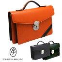 カステルバジャック CASTELBAJAC セカンドバッグ カブセ型 ハンドル ドロワット 71203本革 メンズ ブランド バッグ ギフト プレゼント