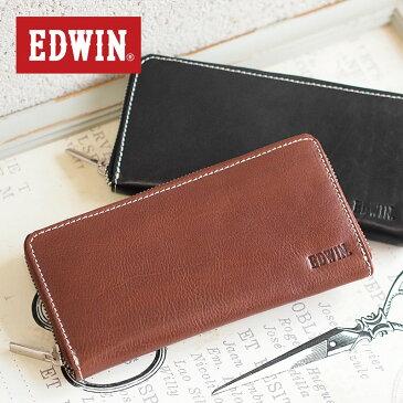エドウィン EDWIN ラウンドファスナー長財布 財布 0510428【メール便配送商品】