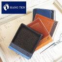 ハンテン HANG TEN BOOK型二つ折り財布 財布 パスケース付...