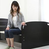 畳ベッドシングルベッド木製タタミベッド手摺付コンセント付MDF日本製タタミシンプルモダン送料無料P19May15