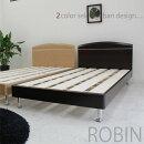 【フレームのみ】ダブルベッドすのこ木製ロータイプベッド