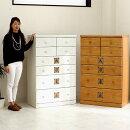 ハイチェストタンスチェスト木製完成品幅80cm収納家具たんす箪笥白ホワイト北欧モダン