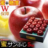 5プレミアム サンふじりんご(約5kg)青森産 蜜入り&糖度13度以上 特選 贈答用 大玉 りんご 林檎 食品 フルーツ 果物 りんご 送料無料 お歳暮 ギフト