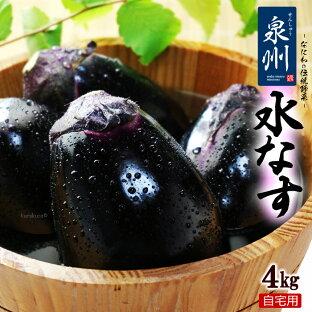ハウス栽培 泉州水なす C/無印 訳あり(約4kg)大阪産 大阪泉州の伝統野菜 水茄子 送料無料