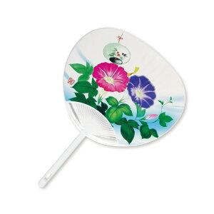 [50] Poly Fan Flat Pattern Windbell Morning Glory Fan KG-1