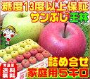 【11月下旬から12月上旬に順次発送】りんごの本場青森県から産地直送糖度13度サンふじ王林詰め合わせ【家庭用 5キロ】内部品質保証1箱で2つの味わい毎日のフルーツに♪♪訳あり ふじりんご 林檎コールドプレスジュース用にも♪【RCP】apple