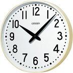 設備時計 シチズン J−4001 壁掛子時計 屋内用 丸型子時計 直径310mm 配線時計 工事時計 電気時計 AC電源時計 電波時計 クリーム色 12mA DC24V 有極30秒運針(送料無料:本州・四国)