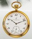 AERO 懐中時計 提げ時計 機械式手巻 金張りケース仕様ポケットウオッチ メカニカルウオッチ 送料無料