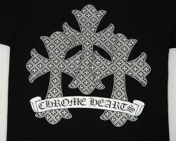 クロムハーツ/CHROMEHEARTS【正規品/本物】【新品】◆メンズ半袖Tシャツ◆Lサイズ◆ブラック黒【あす楽対応】【正規品】【smtb-TD】【yokohama】【YDKG-td】