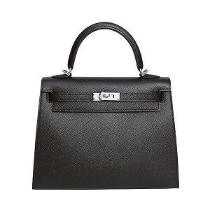 Sac Hermes Hermes Kelly 25 (couture extérieure) Epson Kelly noir métal argenté raccord en Y estampillé (fabriqué en 2020) [Livraison gratuite] [Nouveau] [Shinsaibashi store _30315B]