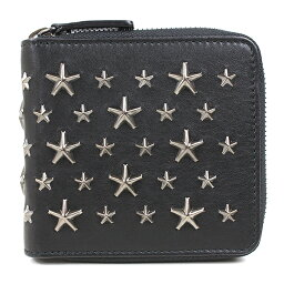 JIMMY CHOO【ジミーチュウ】 二つ折り財布(小銭入れあり) レザー メンズ