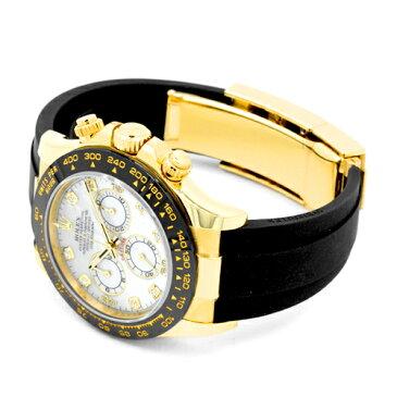 ロレックス ROLEXデイトナ 8ポイントダイヤ116518LN NG YG×ラバー40mm ホワイトシェル文字盤【送料無料】【新品】【メンズ】【腕時計】【本店_C5133】
