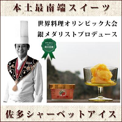 【送料無料】シャーベット!アイスお中元90ml×12個世界料理オリンピック銀メダリストプロデュース『佐多シャーベット』
