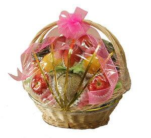 籠盛り果物(かご盛り 果物 フルーツセット 果物セット)1盛 ≪特選≫ 旬の果物(フルーツ) …