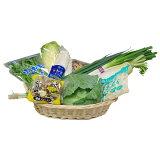 なかみが分かる 九州野菜セット《ミニトマト・新玉葱・とまと・なす・きゃべつ・レタス・人参・しめじ・小松菜・胡瓜》