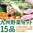 【あす楽】【セット】 おまかせ 九州野菜セット 15品 旬の野菜詰め合せ・おまかせ詰め合わせセット! 人気のセット! 【送料無料】