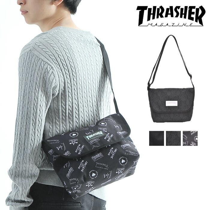 產品詳細資料,日本Yahoo代標 日本代購 日本批發-ibuy99 包包、服飾 包 男女皆宜的包 單肩包/斜挎包 【メール便送料無料】ショルダーバッグ フラップショルダー スラッシャー THRASHER メンズ …