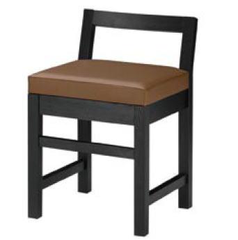 隼人B椅子 ブラック 1384-1690 (黒レザー)【代引き不可】【レストラン椅子】【店舗用椅子】【イス】【いす】【チェア】【店舗用品】【和風椅子】【業務用】
