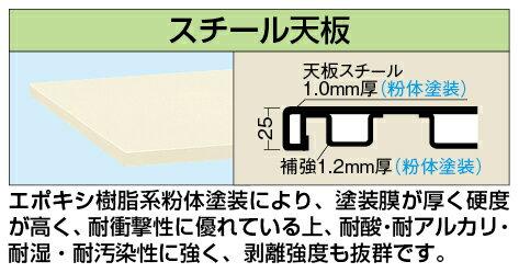 軽量作業台KKタイプ・キャビネットワゴン付 KKS-127JI【代引き不可】