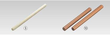 アルミパイプ テフロン加工めん棒 90cm 【製麺用品】【延し】【ロール】【業務用】