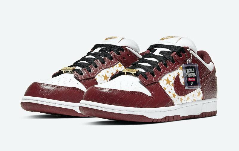 メンズ靴, スニーカー Supreme Nike SB Dunk Low OG QS GOLD STARS WHITEBARKROOT BROWN SB