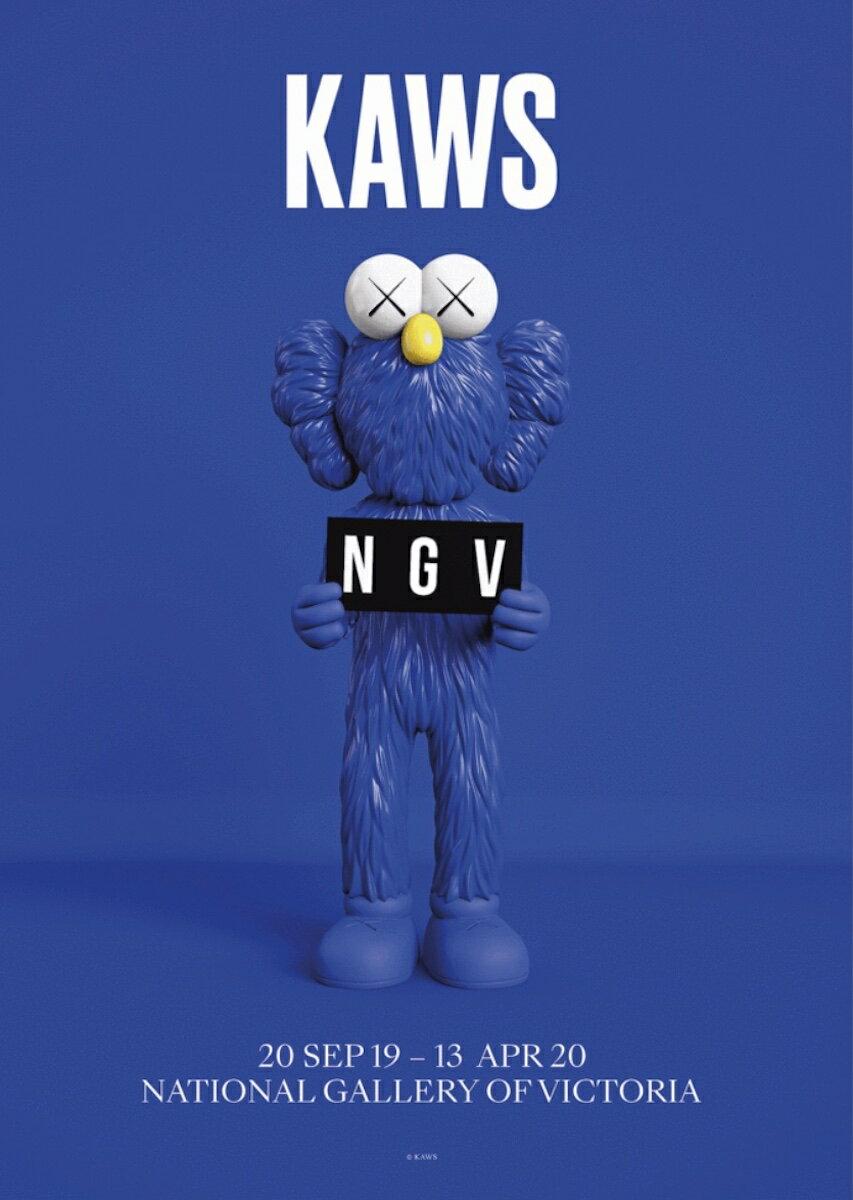メンズファッション, その他  KAWS POSTER NGV 20SEP1913 APR20 NATIONAL GALLERY OF VICTORIA