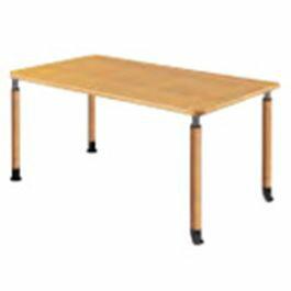 福祉施設向けテーブル昇降テーブル2本固定脚+2本キャスター脚