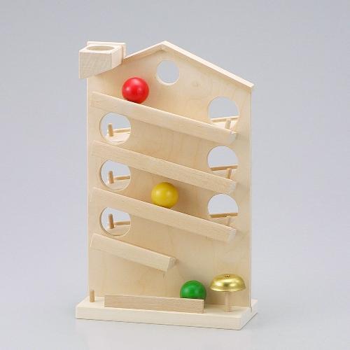 ハウスクーゲルバーン 白木 玉落とし 木のおもちゃ スロープ ボール 木製 出産祝い クーゲルバーン 知育玩具 木製