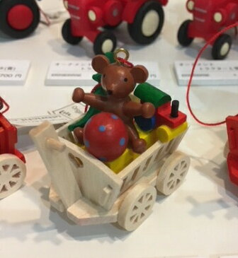 オーナメント おもちゃの荷車・テディ
