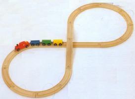 MICKI 汽車セット8の字セット ミッキィ社 汽車セット 木製レール 木のおもちゃ 木製 汽車 レール 出産祝いお誕生日 送料無料 知育玩具