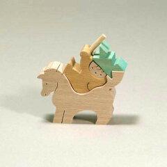 小黒三郎・組木の五月人形馬乗りかぶと童子